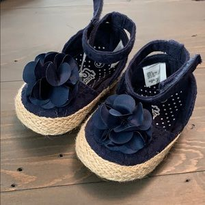 Other - Baby Girl Navy Sandals. Never Worn